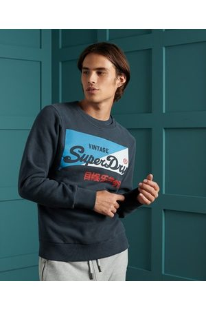 Superdry Man T-shirts - Sport Vintage Logo Primary rundhalsad borstad sweatshirt