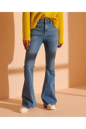 Superdry Smala jeans med hög midja och utsvängda ben