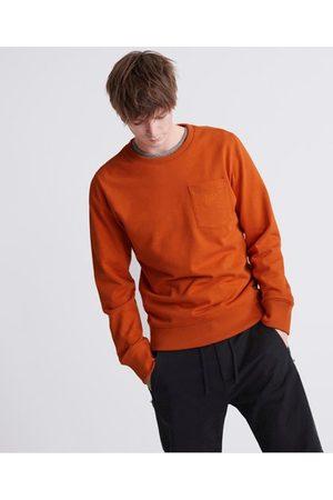 Superdry Man Jeansskjortor - Denim Goods Co rundhalsad sweatshirt i colletyg