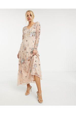 Frock and Frill – Fairytale – Flerfärgad maxiklänning med heltäckande utsmyckning