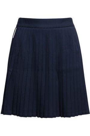 Peter Do Pleated Viscose Mini Skirt