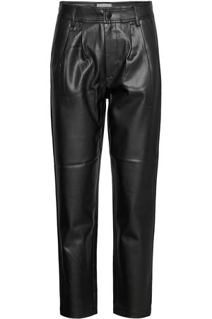 Freequent Kvinna Leggings - Fqharley-Ankle-Pa Leather Leggings/Byxor
