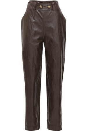 REJINA PYO Kvinna Skinnbyxor - Astrid Faux Leather Straight Pants
