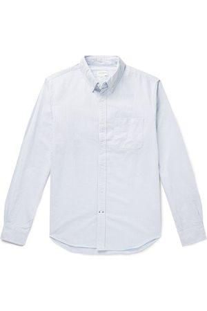 CLUB MONACO Man Casual - Button-Down Collar Striped Cotton Oxford Shirt