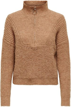 Only Zip Detail Knitted Pullover Kvinna