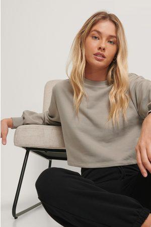 NA-KD Kvinna Sweatshirts - Ekologisk Croppad Sweatshirt