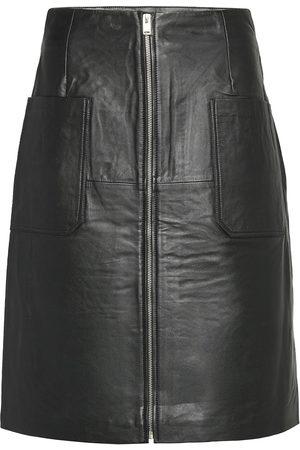 Selected Slfsvea Hw Leather Skirt W Knälång Kjol