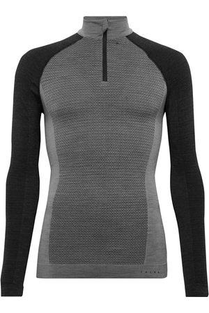 Falke Man Underställ - Panelled Stretch Virgin Wool-Blend Ski Base Layer