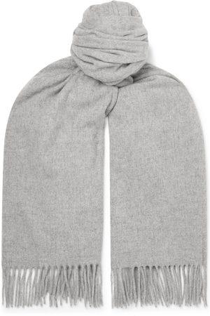 Acne Studios Man Sjalar - Oversized Fringed Melangé Wool Scarf