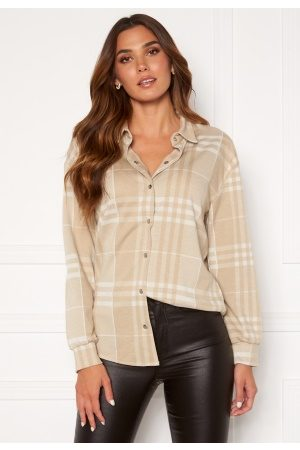 BUBBLEROOM Kvinna Casual - Cleo checked overshirt L