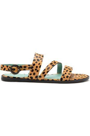 Blue Bird Kvinna Sandaler - Leopardmönstrade sandaler
