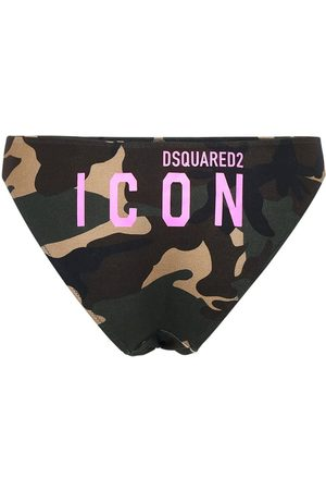 Dsquared2 Camo & Logo Print Jersey Briefs