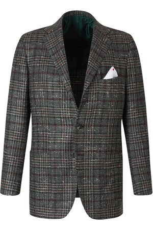 Kiton Checked Straight Blazer