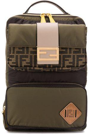 Fendi Man Ryggsäckar - Logotypmönstrad ryggsäck