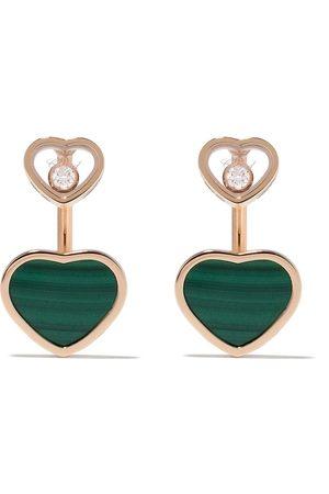 Chopard Happy Hearts diamantörhängen i 18K roséguld