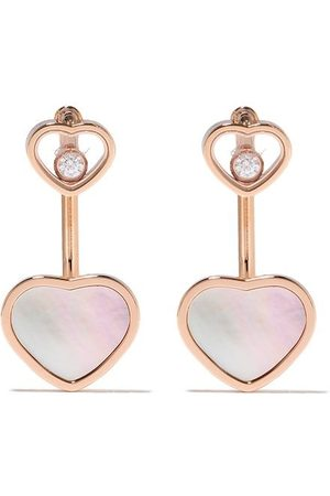 Chopard Happy Hearts diamantörhängen i 18K roséguld
