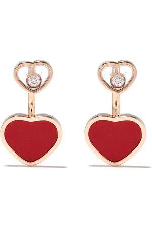 Chopard Happy Heart örhängen i 18K roséguld