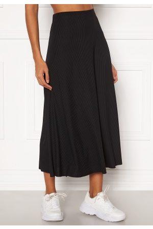 SisterS point Kvinna Midikjolar - Vya Skirt 0 Black L