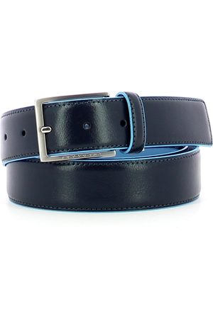 Piquadro 35 mm belt in Bue Square leather