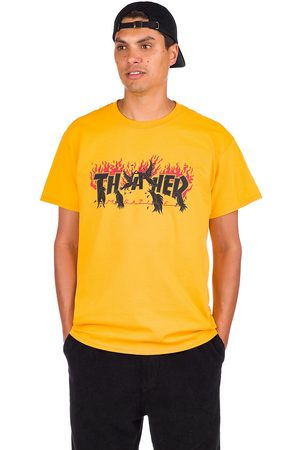 Thrasher Man Kortärmade - Crows T-Shirt gold
