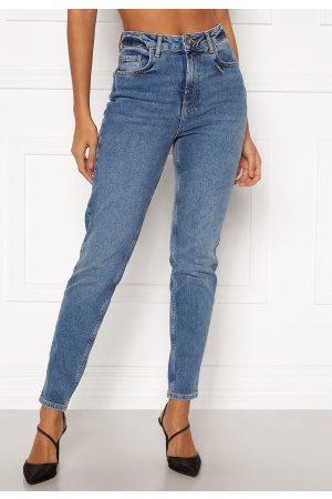 Pieces Leah Mom HW Jeans Medium Blue Denim M