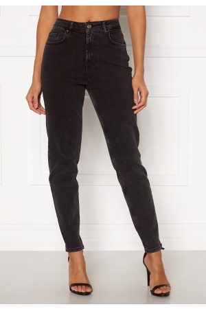 Pieces Leah Mom HW Jeans Black L