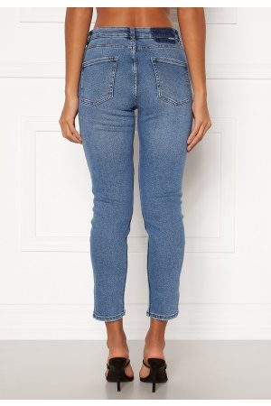 Only Kvinna Skinny - Erica Life Mid ST Ankle Jeans Light Blue Denim XL/32