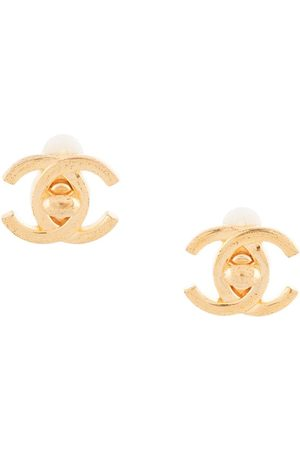 CHANEL 1995 CC turn-lock earrings