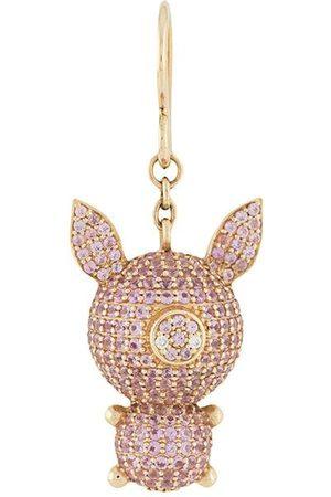 Natasha Zinko Piggy safir- och diamantörhängen i 18K gult