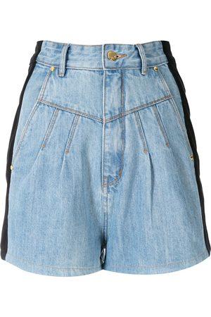 AMAPÔ Tvåfärgade jeansshorts