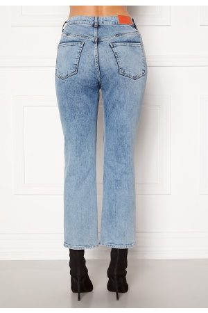 the ODENIM Kvinna Straight - O-Mod Jeans Random Blue 34