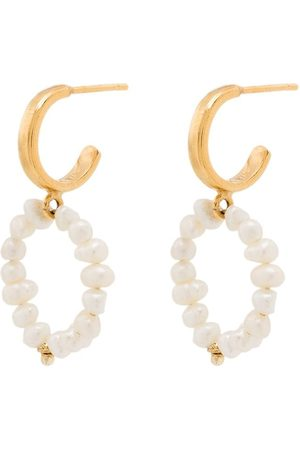 Hermina Athens Mini hoop pearl earrings