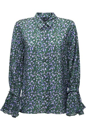Rokh Floral Print Shirt W/ Pleated Sleeves