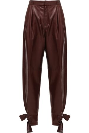 Jil Sander Leather Straight Pants