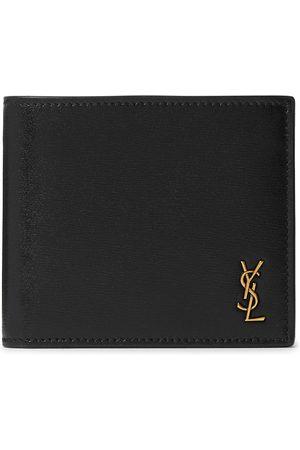 Saint Laurent Logo-Appliquéd Leather Billfold Wallet