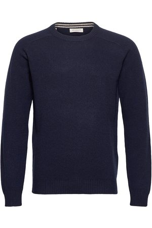 Selected Slhnewcoban Lambs Wool Crew Neck W Stickad Tröja M. Rund Krage