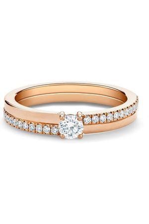 De Beers Diamantring i 18K rosé