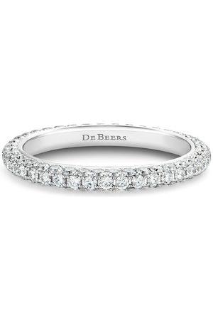 De Beers Diamantring i 18K vitguld