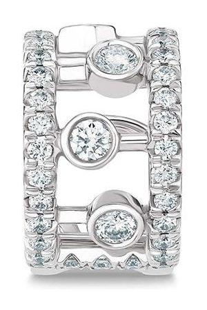 De Beers Diamantörhänge i 18K vitguld