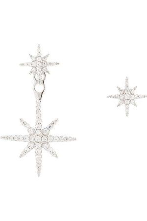 APM Monaco Asymmetriska stjärnörhängen i sterling