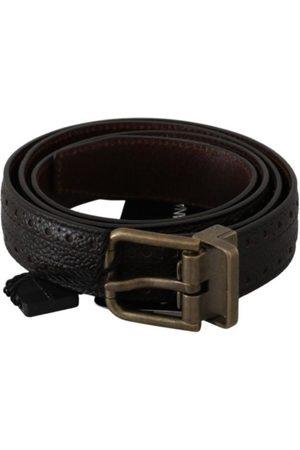 Dolce & Gabbana Buckle Waist Men Leather Belt