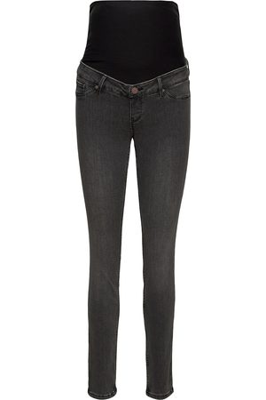 Lindex Kvinna Mom - Trousers Denim Mom Clara Blac Jeans Mom Jeans Grå