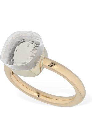 Pomellato Nudo 18kt Gold Ring W/ White Topaz