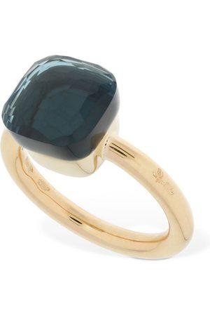 Pomellato Nudo 18kt Gold Ring W/ Blue London Topaz