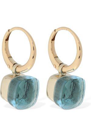 Pomellato Nudo 18kt Gold Earrings W/ Blue Topaz