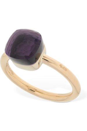 Pomellato Nudo 18kt Gold Thin Ring W/ Amethyst