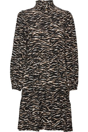 Notes Du Nord Kvinna Festklänningar - Rosie Zebra Short Dress Maxiklänning Festklänning Svart