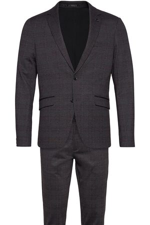 Lindbergh Aop Checked Suit Kostym