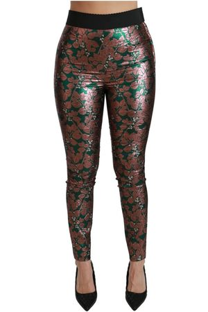 Dolce & Gabbana Leaf Tights Skinny Pants