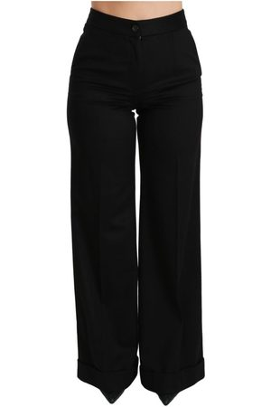 Dolce & Gabbana Wide Leg Flared Trouser Cashmere Pants